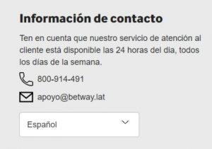 Betway Chile Atencion al Cliente