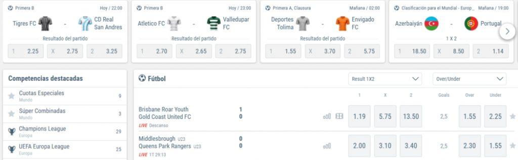 Sportingbet Chile Apuestas de Futbol